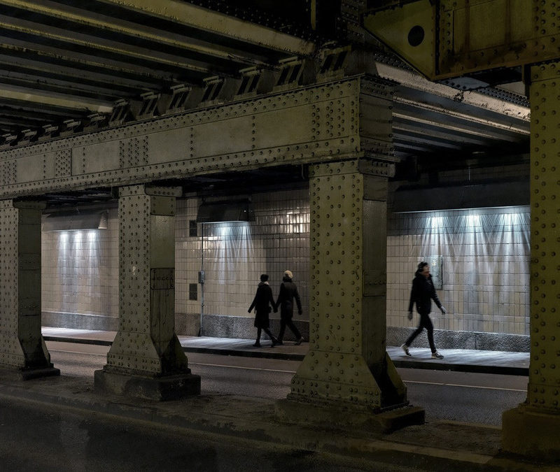 Pedestrians Create Surging Light Projections in Artwork by Matthias Oostrik