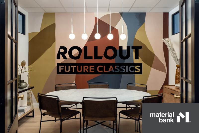 Rollout Joins Material Bank, Launches Future Classics Wallpaper Collection